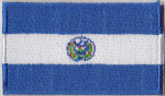 El Salvador Embroidered Flag Patch, style 04